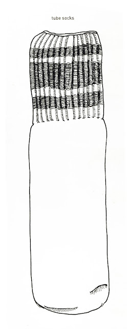 642 Things to Draw #26 - Tube Sock - Pen and Ink by Ana Tirolese 2012©