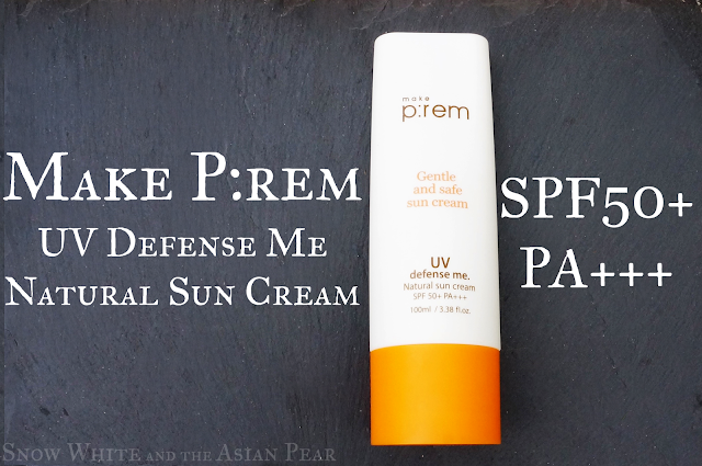 使P:rem UV Defence Me Natural Sun Cream SPF50 + PA +++