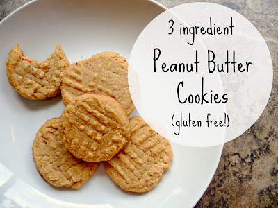 http://www.domesticblisssquared.com/2013/06/3-ingredient-peanut-butter-cookies.html