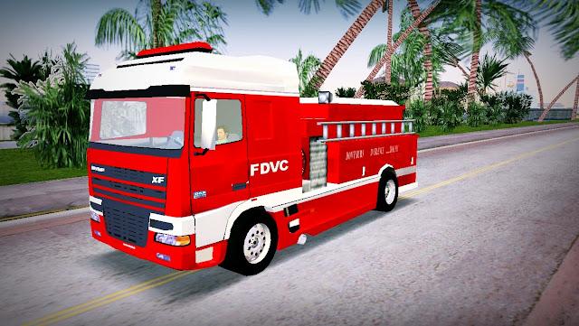 DAF XF 530 2002 Fire Truck GTA Vice City