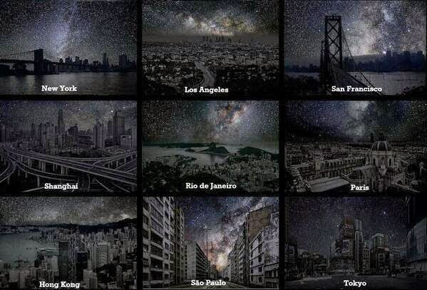 new york, shanghai, paris, hong kong, without light