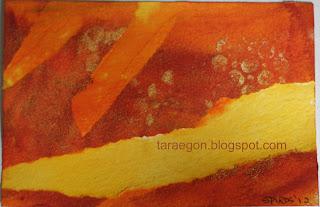 monochromatic post card swap