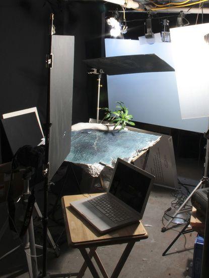 Matthew Albanese fotografia set designer maquetes modelos miniaturas hiper realistas Paraíso faça-você-mesmo - montagem da maquete e cenário