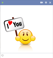 I heart you smiley face for Facebook