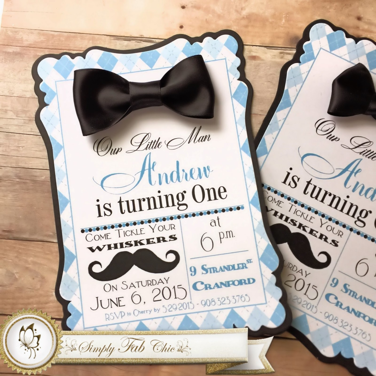 Little Man Mustache Bow Tie 1st Birthday Simply Fab Chic