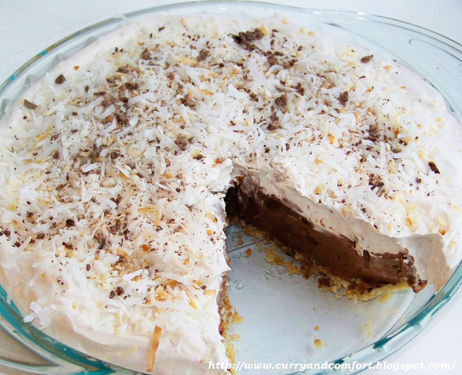 Kitchen Simmer: Easy Chocolate Coconut Cream Pie- No Bake Version
