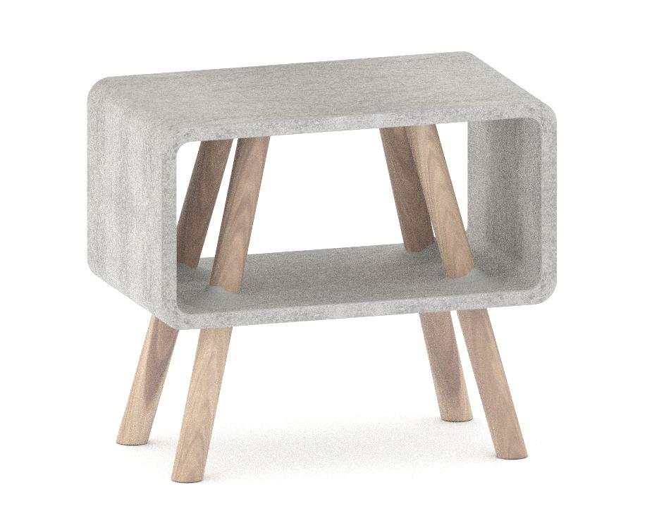 Attrayant Petite Table De Chevet #11: Petite Table De Chevet En Papier Mâché. Papier Mache Design Ecologique  Bioplastique