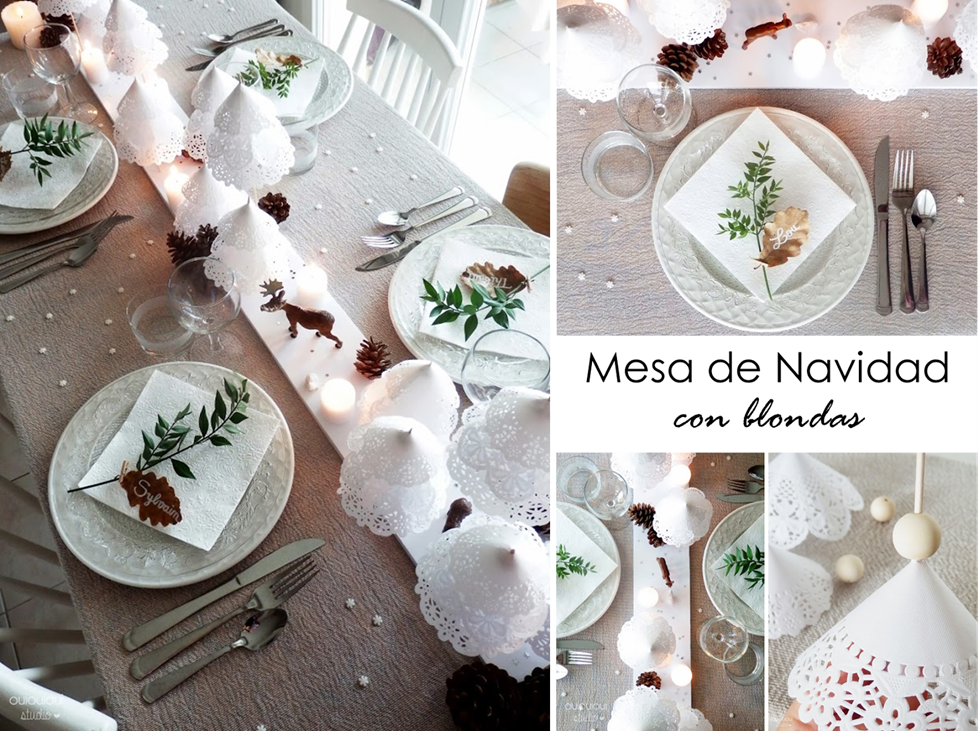 Diy Decoracion Navidad ~ Decoraci?n F?cil MESA DE NAVIDAD CON BLONDAS + DIY SMALL & LOWCOST