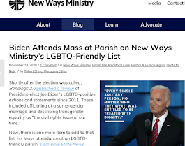 Apostate Joe Biden Attends (invalid) Mass at Parish on New Ways Ministry's LGBTQ-Friendly List
