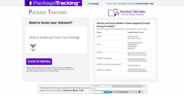 PackageTracking Toolbar