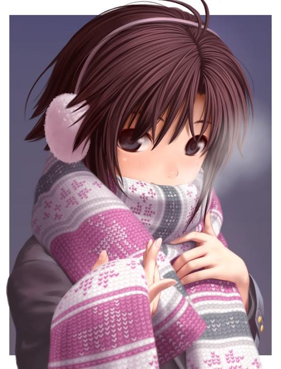 Coreanita con bufanda