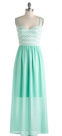 Mint Maxi Dress For Summer