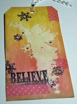 tag, angel, christmas, believe