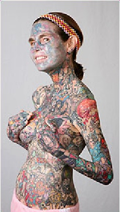 the most tattooed woman naked