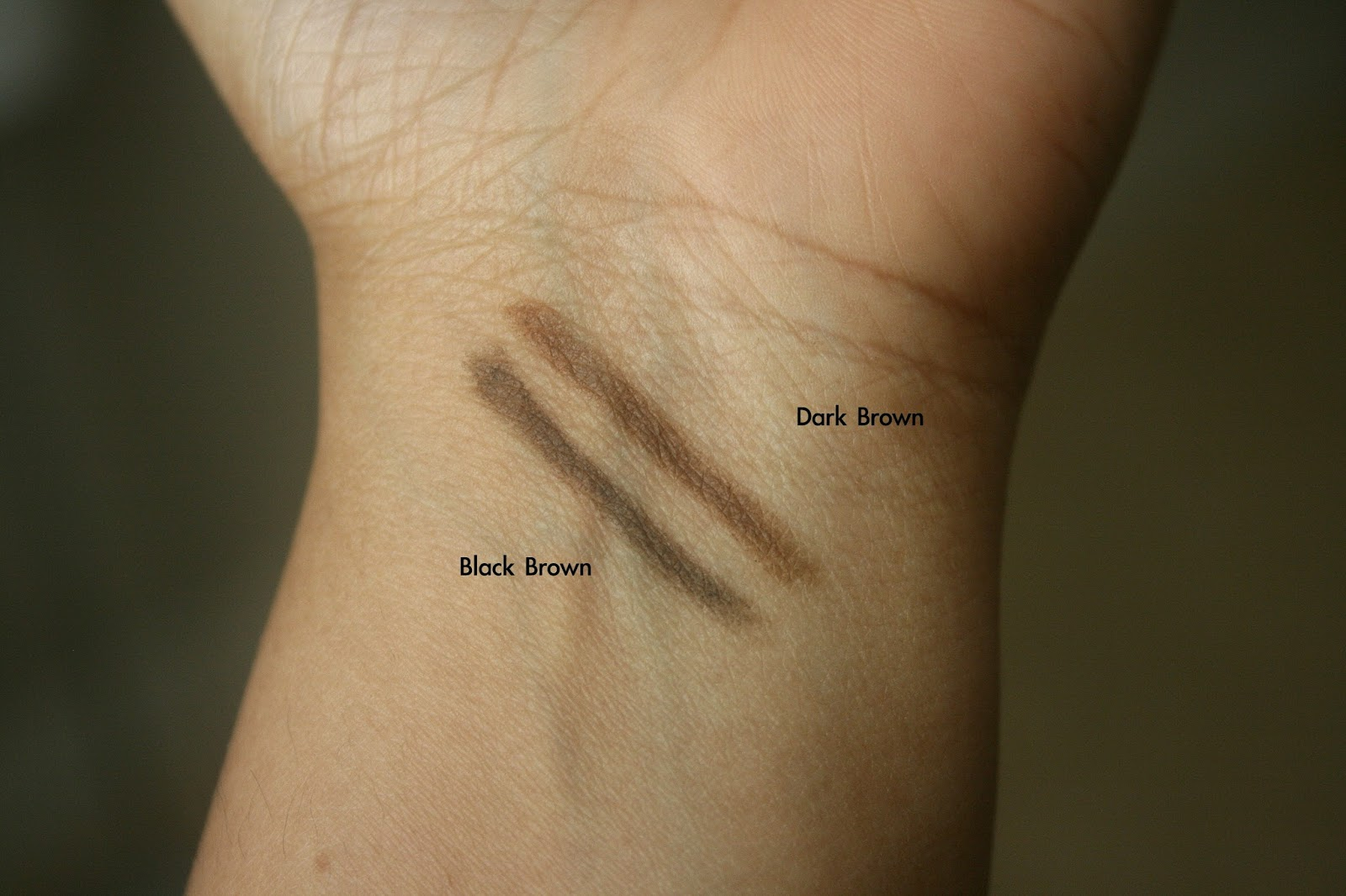 Jane Cosmetics All Angles Always Brow Pencils Black Brown, Dark Brown Swatch
