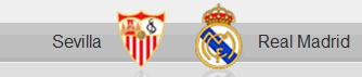 Sevilla and Real Madrid shields