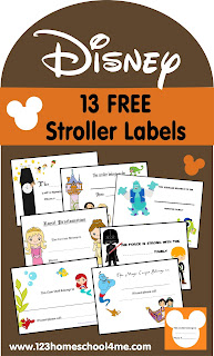 13 FREE Disney Stroller Labels