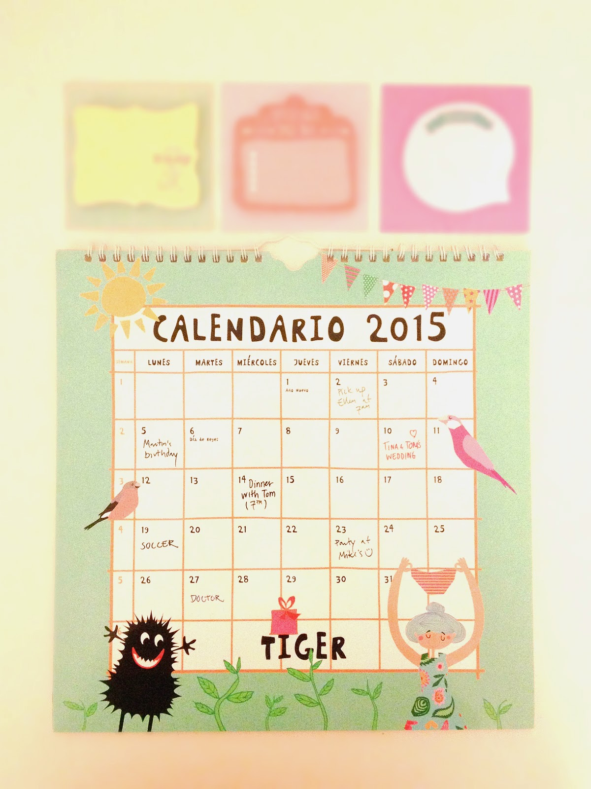 Tiger calendar calendrier Tigerstores whatsupdebs whats up debs