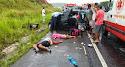 Colisão entre táxi e veículo de passeio deixa seis mortos e feridos em Esplanada
