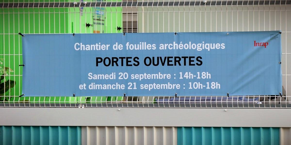 Chantier de fouilles archéologiques - Portes Ouvertes - Samedi 20 septembre 2014