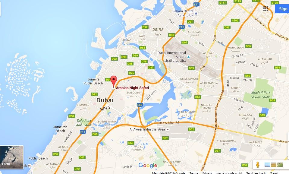 Arabian Night Safari Dubai Map Dubai Tourists Destinations and – Dubai Tourist Attractions Map