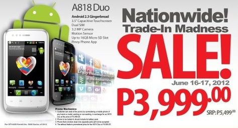 Myphone A818 Duo Specs Price Available At Tradein Madness Promo