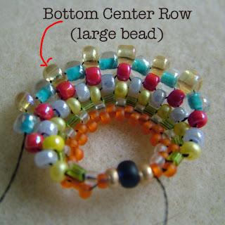 how to make hoola hoop circles in peyote stitch