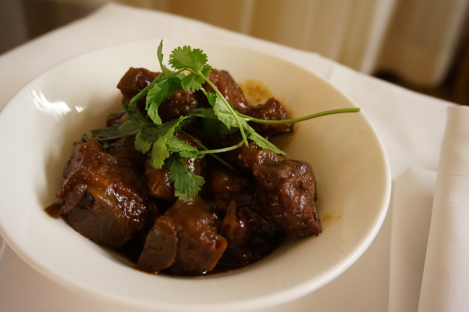 portman ritz-carlton shanghai china prc hotel review shanghainese bbq ribs food room service