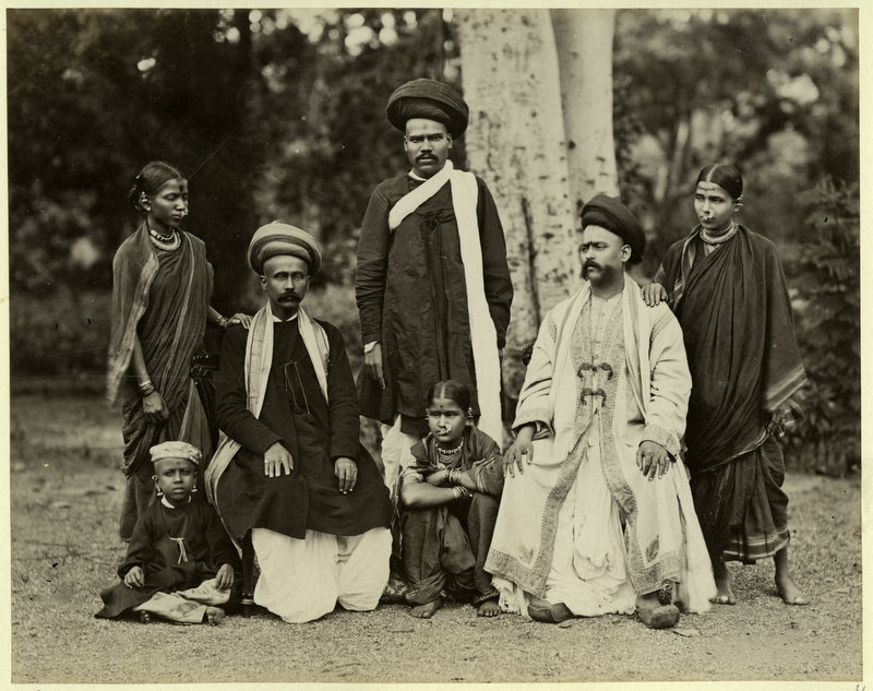A Brahmin Family Photograph- Probably from Maharastra 1880's