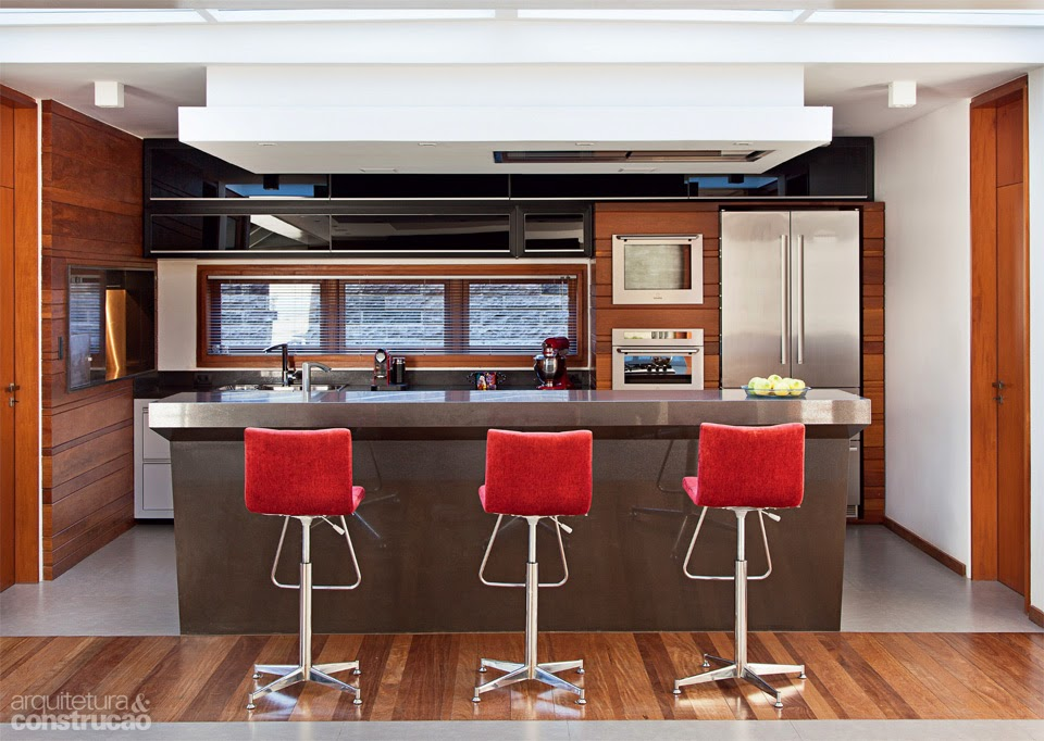 Minha cozinha gourmet modelos e dicas decorsalteado for Sala de estar gourmet