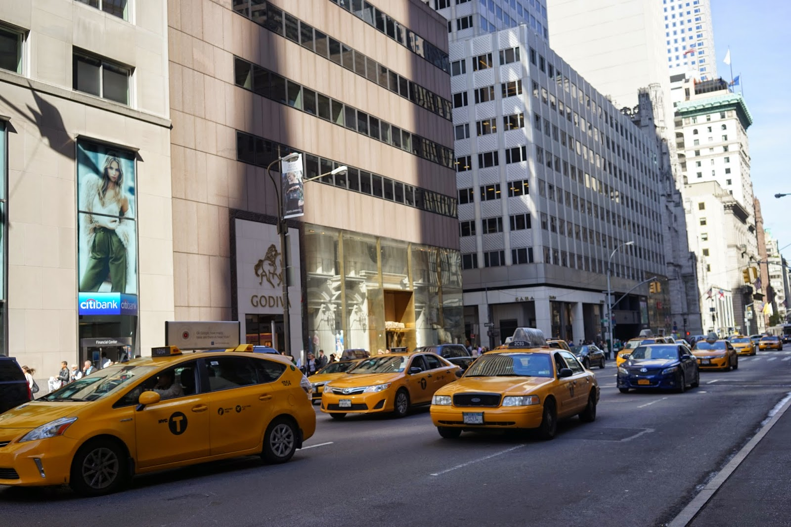 yellow taxis new york