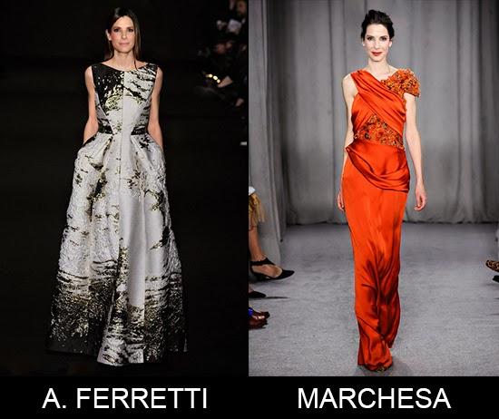 Will Sandra Bullock wear Alberta Ferretti or Marchesa dress prediction for Oscars 2014