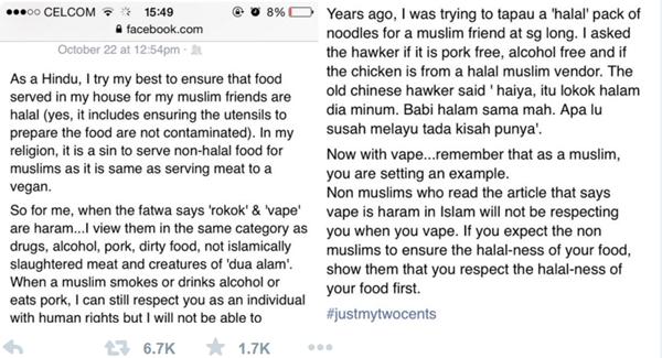 Pandangan Orang Bukan Muslim Terhadap Penggemar Vape Muslim, RENUNGKAN!