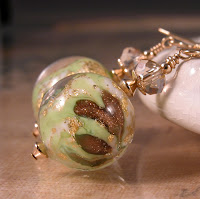 lime green, white, aventurine, gold venetian murano glass beads, swarovski crystals and gold fill earrings