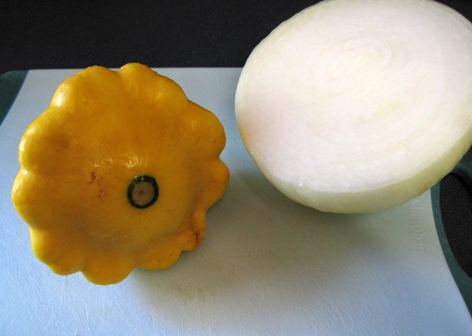 pattypan squash and onion