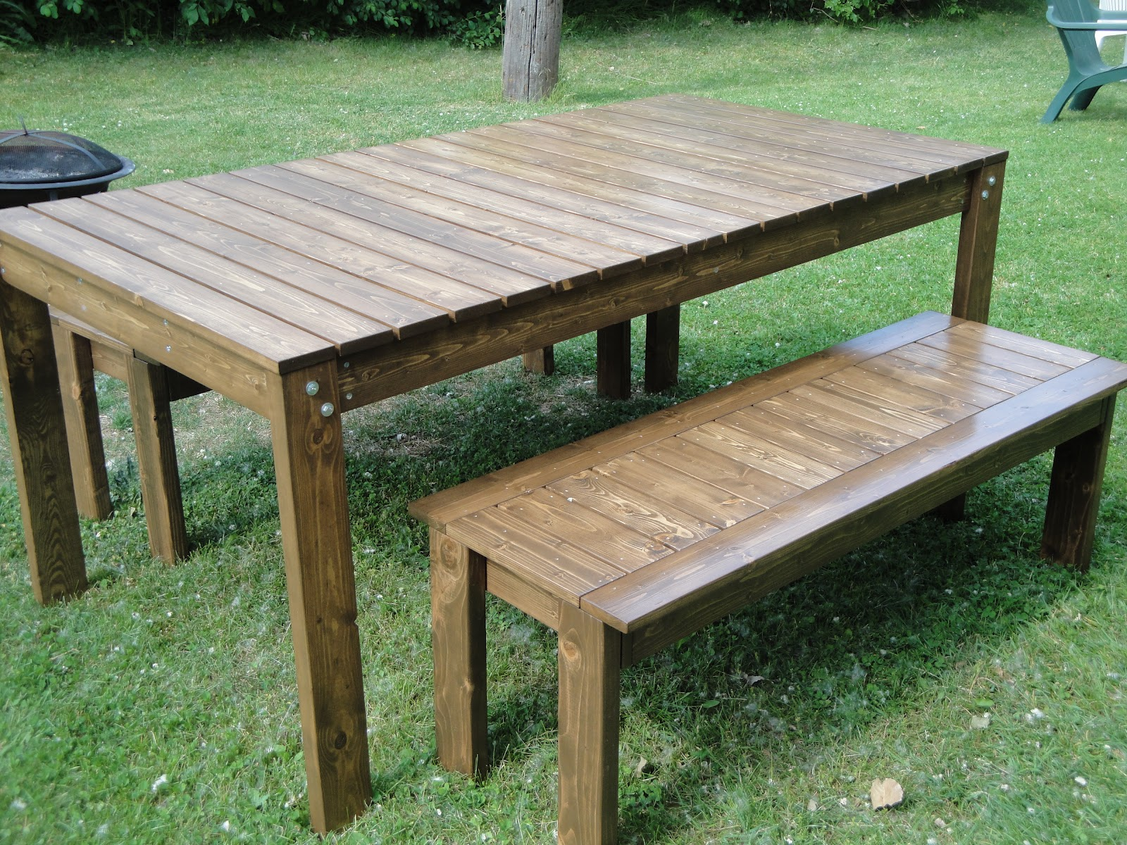 How to build a garden table and bench woodguides Yard bench