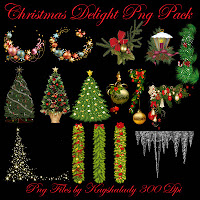 Christmas PNG Tubes, Fantasy PNG Tubes, Digital scrapbooking embellishments, PNG tubes Christmas