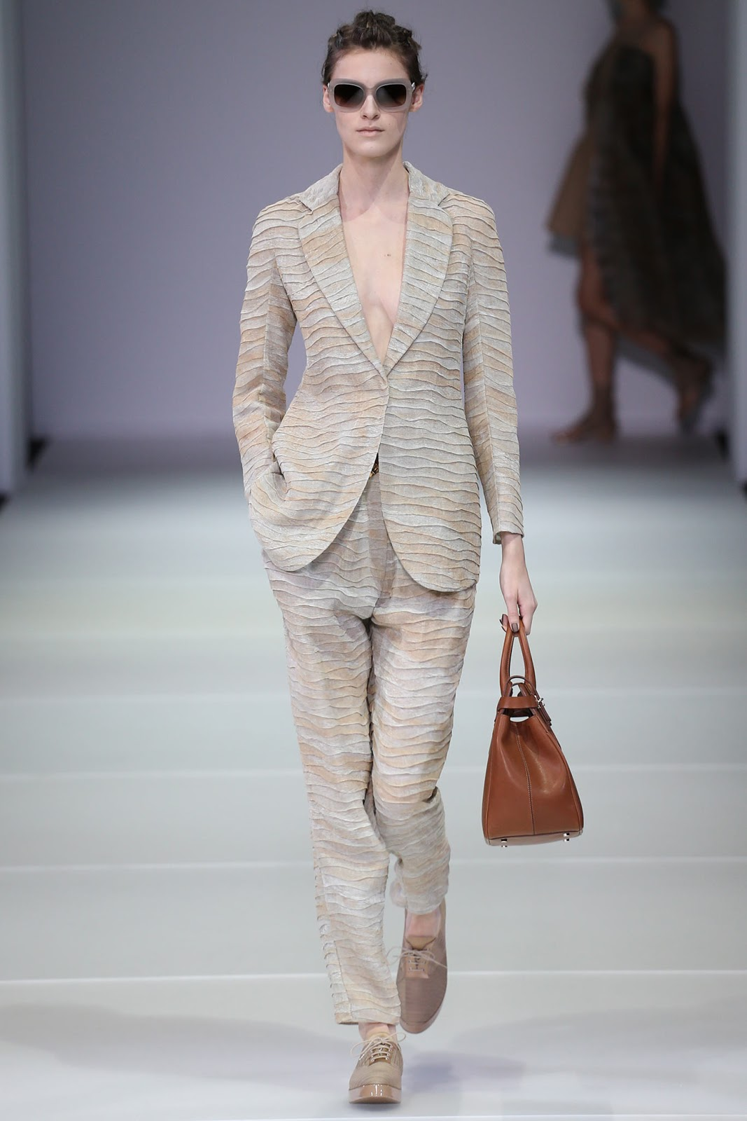 Giorgio Armani / Spring/Summer 2015 trends / trouser suit / styling tips and outfit inspiration / via fashioned by love british fashion blog