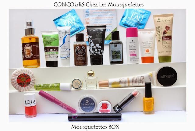 Résultat Concours Mousquetettes Box Beauté - Les Mousquetettes©