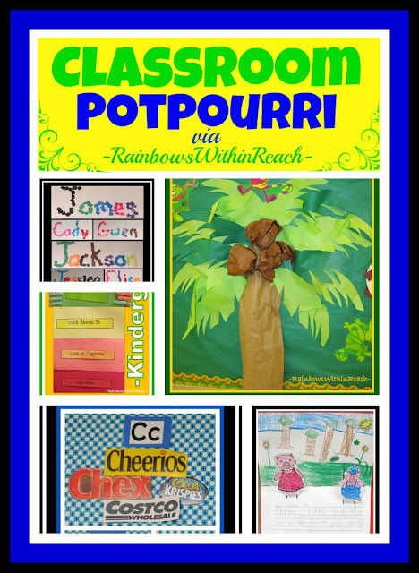 photo of: Classroom Potpourri RoundUP via RainbowsWithinReach