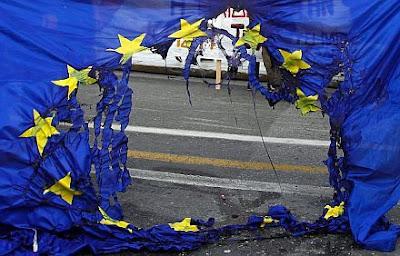Europa, União Europeia, Bandeira, Bandeira Queimada, Europe, Flag European Union, Burning Flag