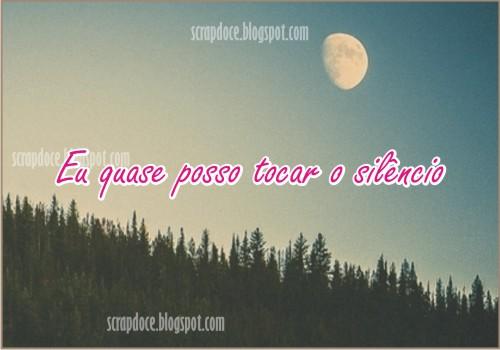 Mensagem sobre Silêncio com frase de Capital Inicial para compartilhar no Facebook