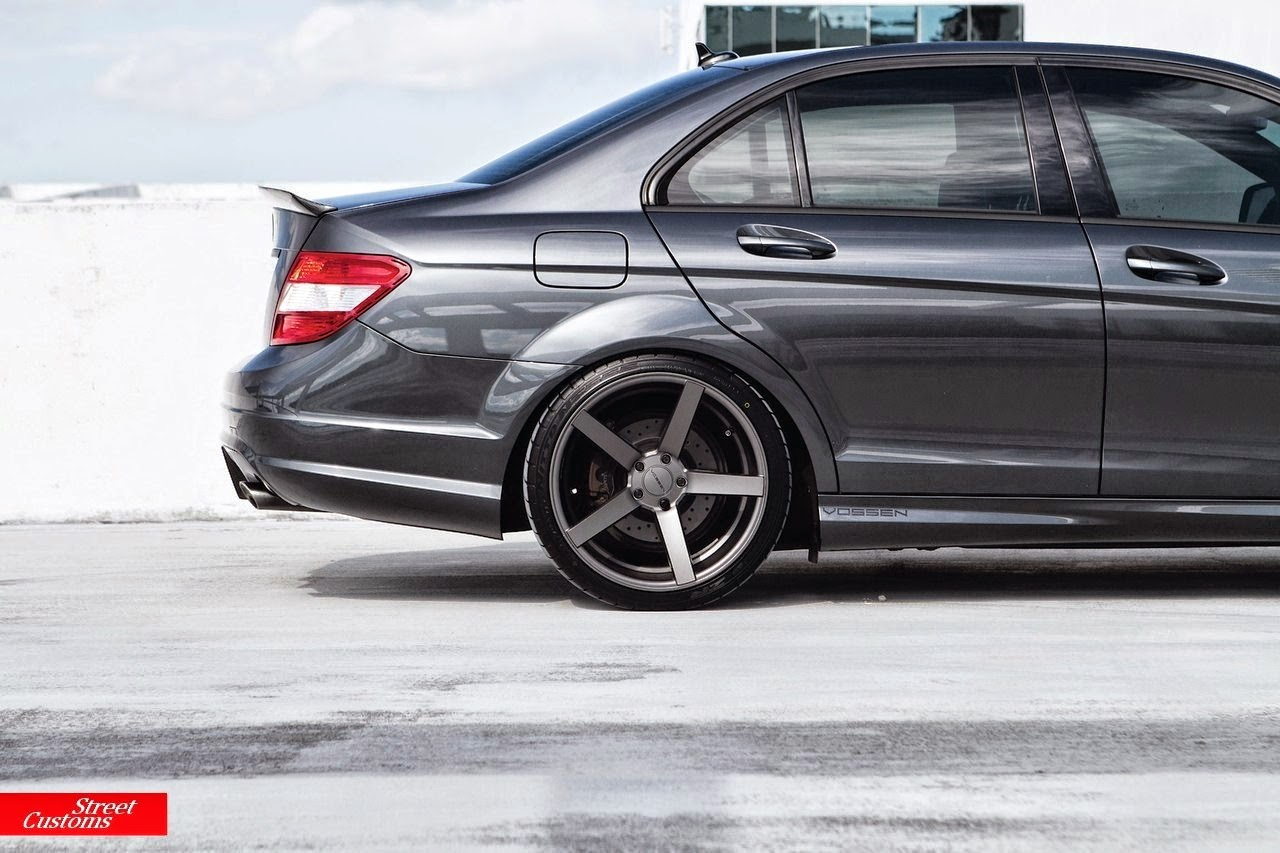 Mercedes benz w204 c63 amg on vossen wheels benztuning for Amg wheels for mercedes benz