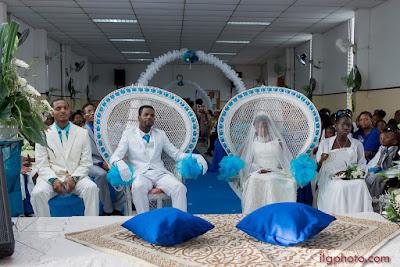 les mariés au temple mariage en Guadeloupe