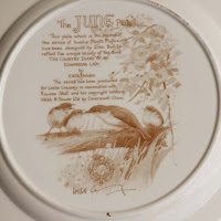 Caverswall China June plate back