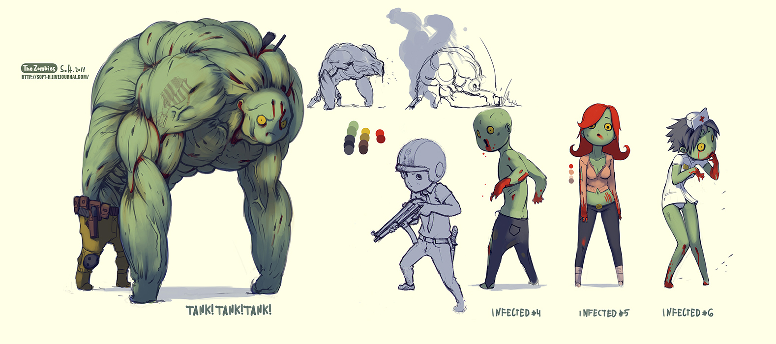 Character Design Zombie : How to carve roast unicorn monday monsters z is for zombies