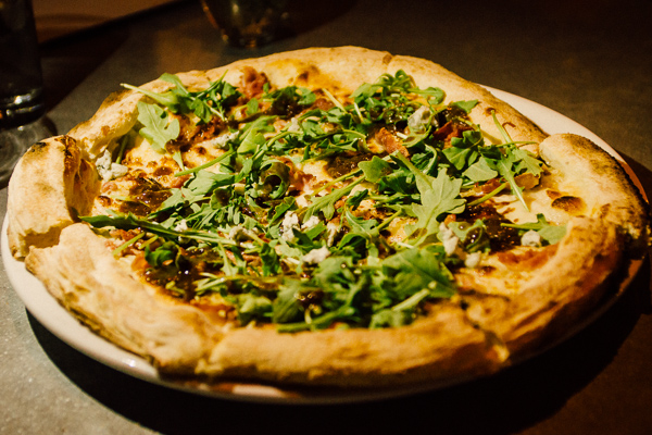 Fig and gorgonzola pizza at  Alleia in Chattanooga, Tennessee