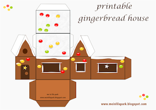Free printable DIY gingerbread house for children's bedside stands ...