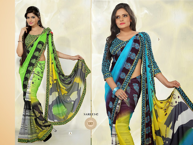 New Designer Printed Saree – Buy Saree Online