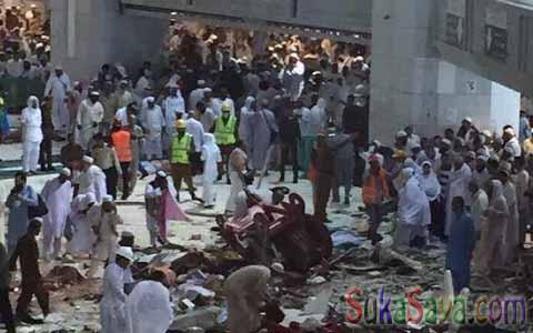 Kondisi waktu evakuasi para korban di Masjidil Haram